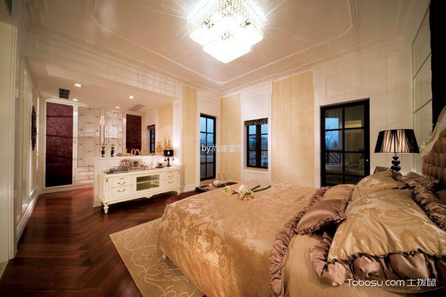 卧室白色电视柜美式风格装饰设计图片
