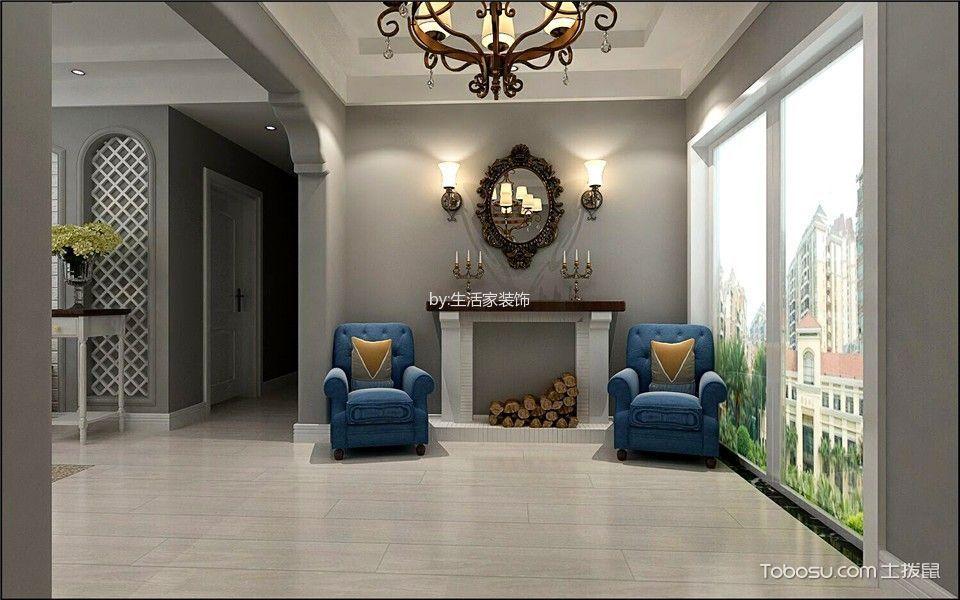 客厅吊顶美式风格效果图图片