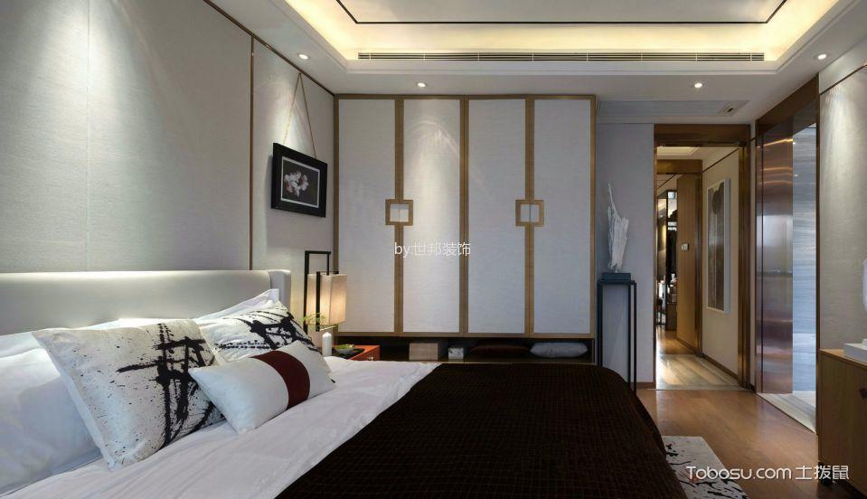 卧室白色衣柜新中式风格装修效果图