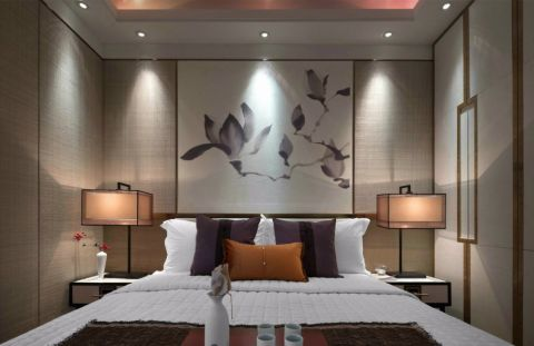 泊悦府新中式风格三居室装修图片