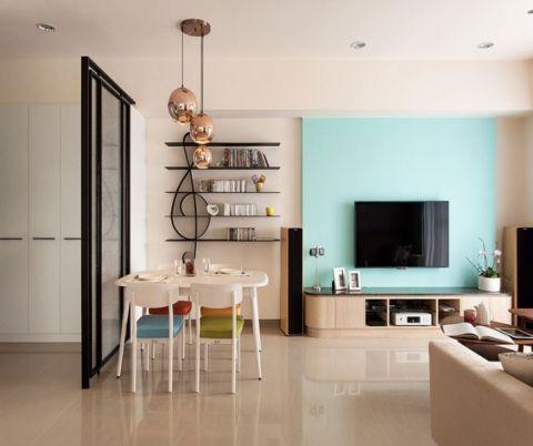 海亮樾金沙106平米北欧风格三居室效果图