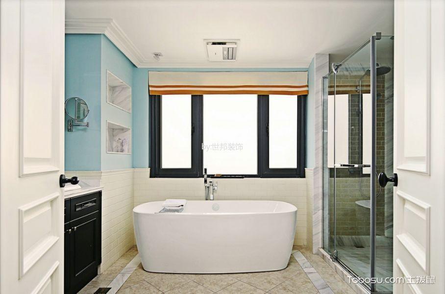 卫生间隔断美式风格装潢效果图