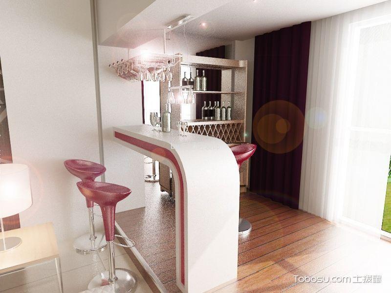 餐厅白色吧台现代风格装潢设计图片