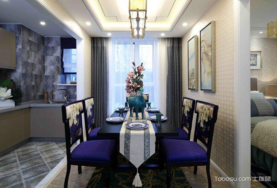 餐厅白色吊顶日式风格装饰图片