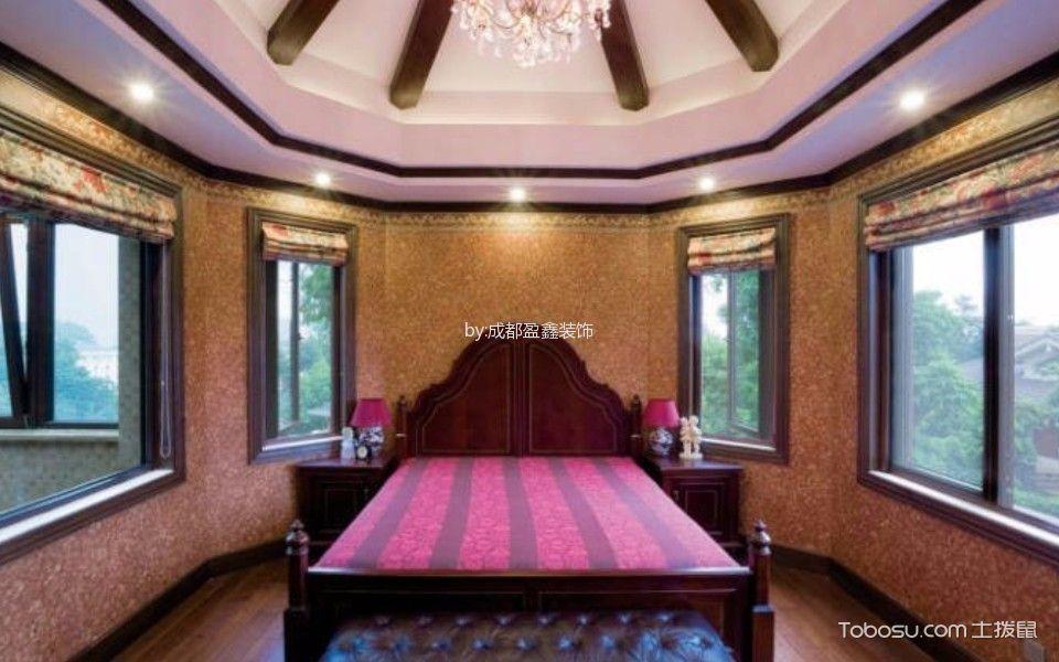 卧室红色榻榻米欧式风格效果图