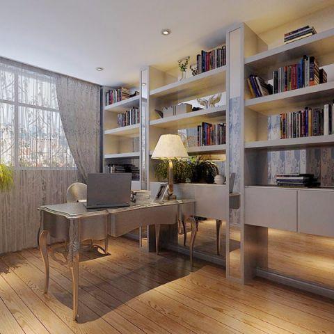 书房吧台简欧风格装修设计图片