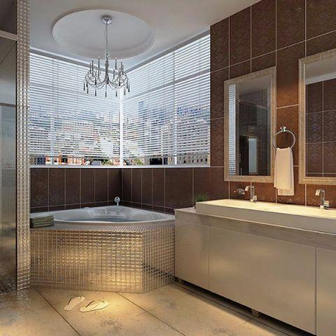 卫生间吧台简欧风格装潢设计图片