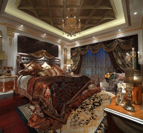 卧室吊顶洛可可风格效果图