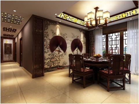 餐厅中式古典风格装潢图片