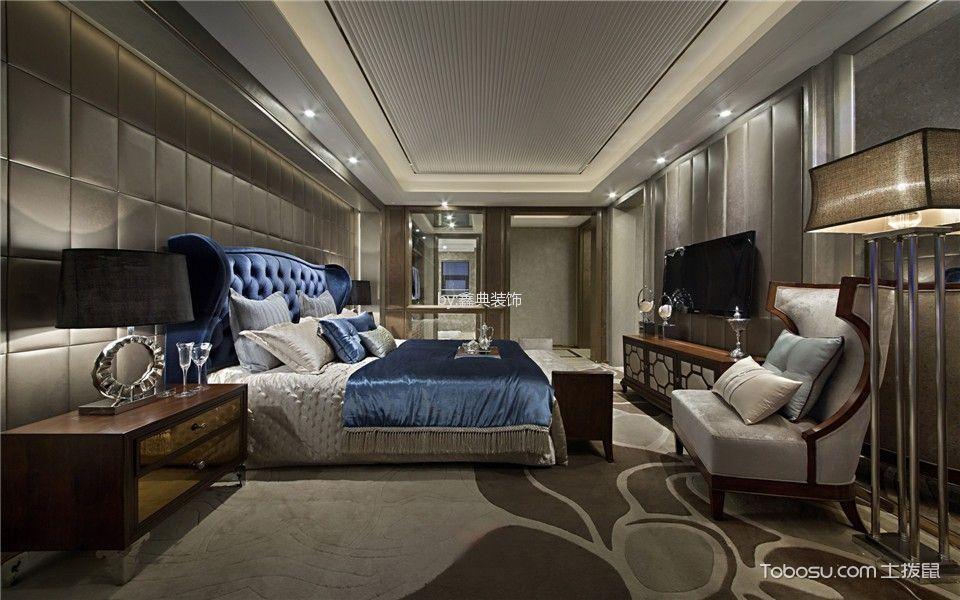 卧室灰色榻榻米欧式风格装潢图片