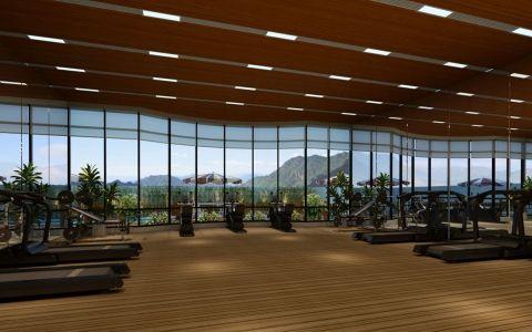 南开区健身房工装装修效果图欣赏