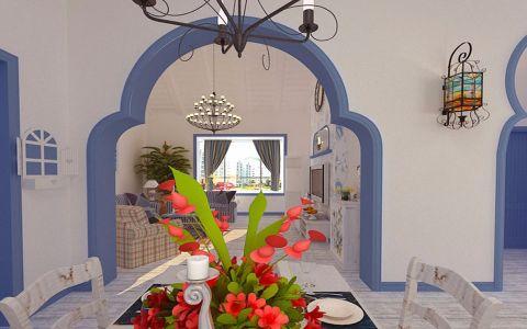 蓝色东南亚餐厅室内效果图
