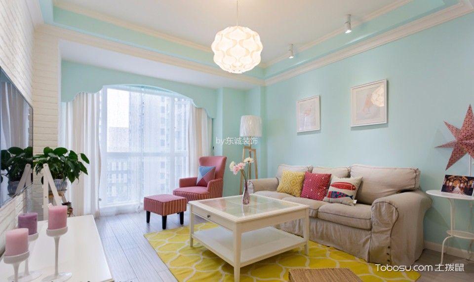 华润城北欧风格两居室户型图