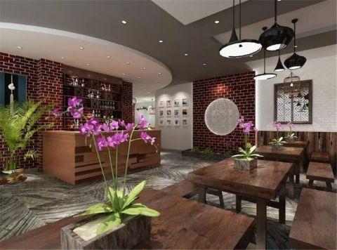 中式饭馆工装装修效果图欣赏