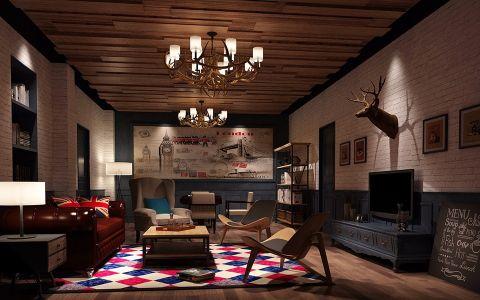 30万loft风格咖啡厅装修效果图