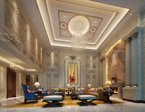 万科兰乔圣菲350平方欧式别墅设计效果