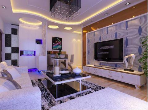 此案例的客厅以简约为主,让整个客厅显得简单、大方、又时尚。卧室相对的豪华一点,舒适度也增强了,让业主拥有一个放松休息的休息场所。