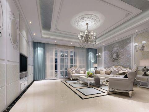 兰江山第180平方欧式风格大户型装修案例
