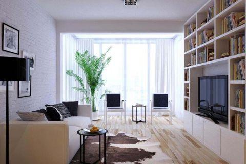 73平米单身公寓现代简约风格装修效果图
