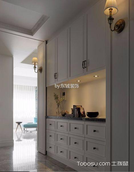 美式分格三居室装修效果图