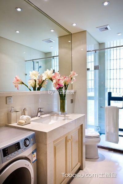 卫生间白色隔断欧式风格装潢效果图
