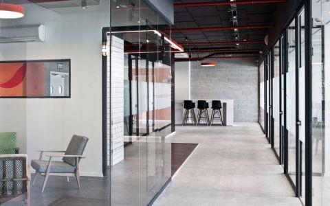 办公室工业风格60万预算工装装修效果图