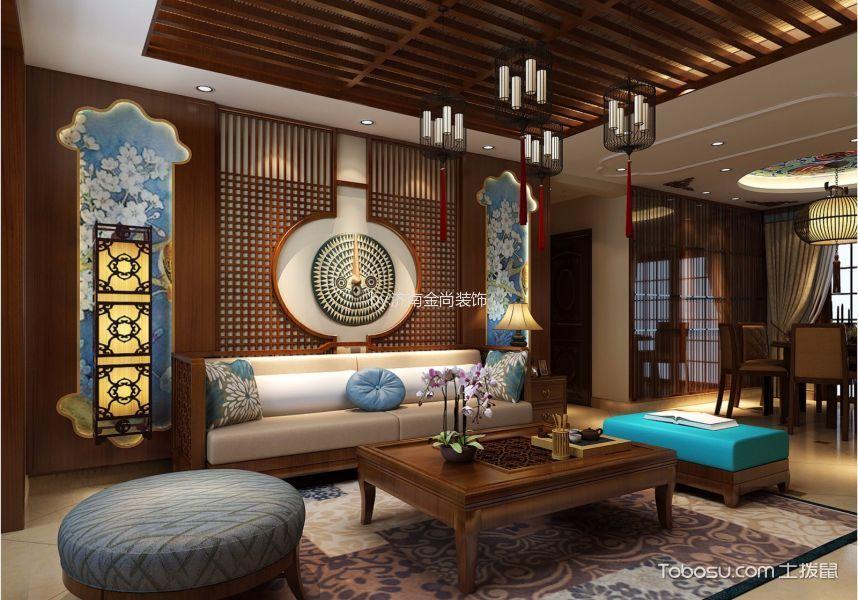 华润紫云府140平新中式家装设计效果图