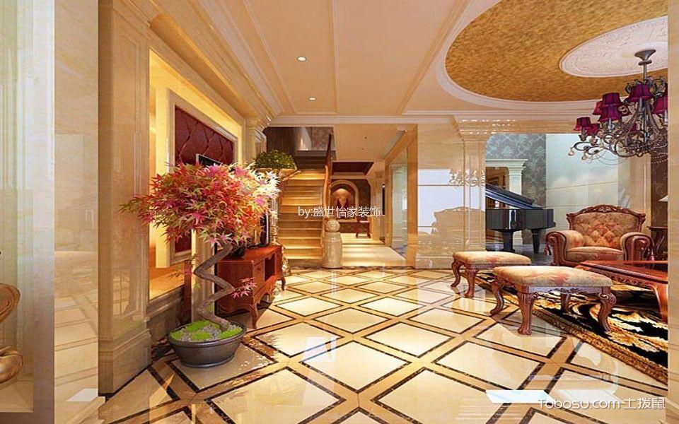 客厅橙色地砖现代简约风格装饰图片
