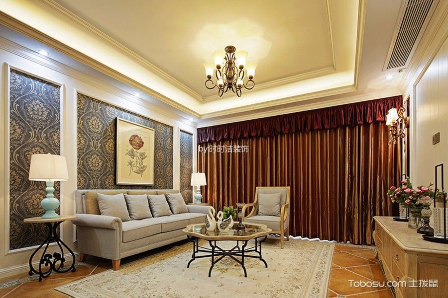 客厅米色飘窗简约风格装饰效果图