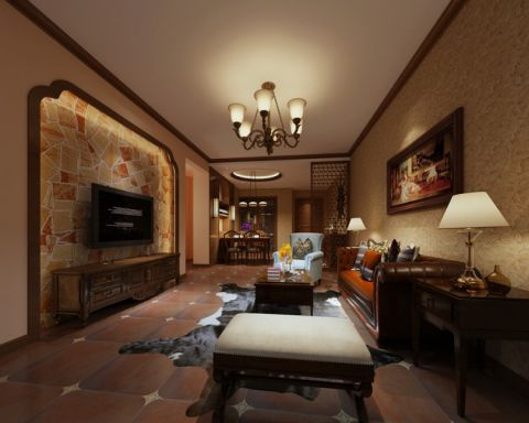 2020美式80平米设计图片 2020美式三居室装修设计图片