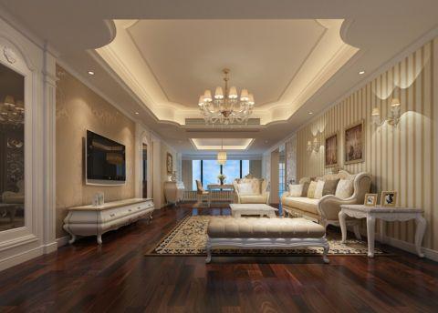 中信红树湾170平方欧式装修风格设计