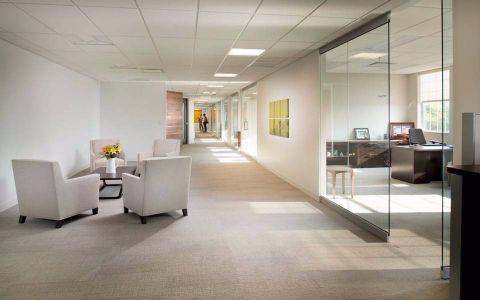 公司办公室简约式风格工装装饰效果图欣赏