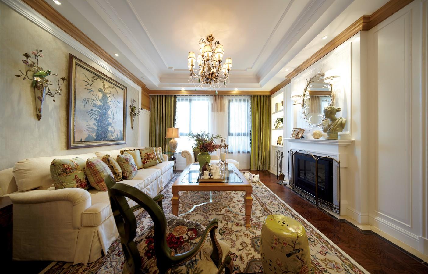 4室2卫2厅120平米美式风格