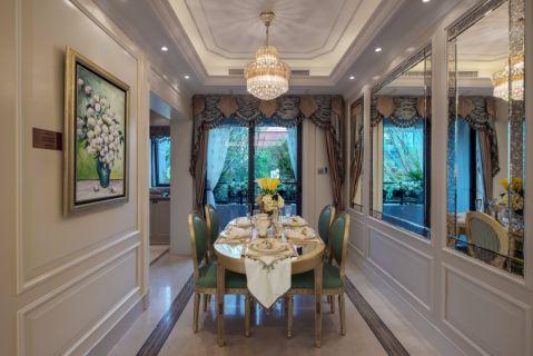 保利香槟浪漫法式三居室效果图