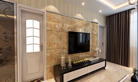 莲花池畔80平现代简约二居室装修设计图