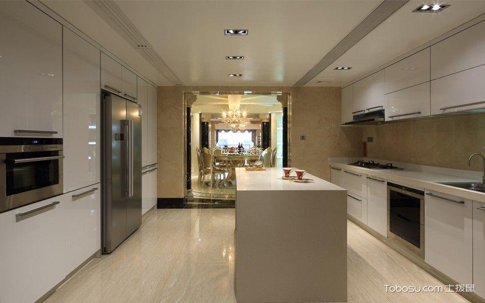厨房彩色隔断简欧风格装修效果图