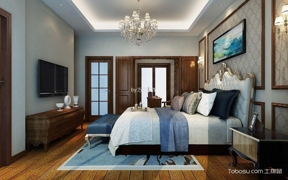 卧室咖啡色电视柜新中式风格装饰图片