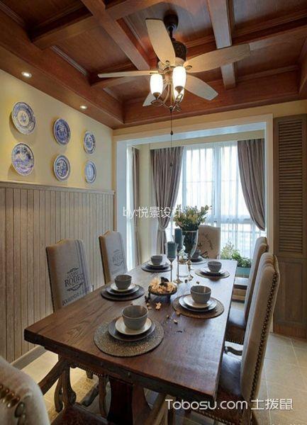 餐厅咖啡色吊顶日式风格装饰设计图片