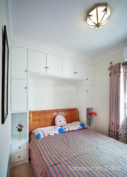 卧室粉色窗帘田园风格装饰设计图片