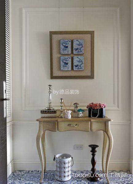 玄关白色背景墙美式风格装修效果图