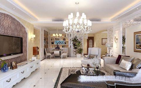 天津万通上游国际三居室现代欧式风格装修图