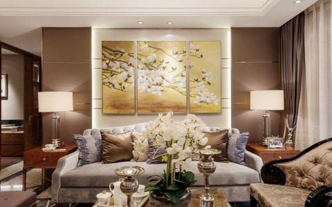 2019新古典120平米装修效果图片 2019新古典三居室装修设计图片