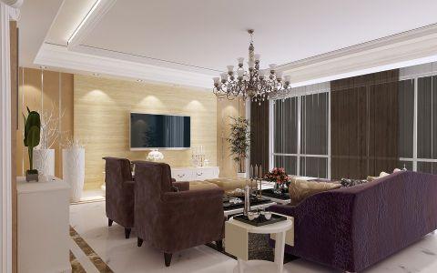 客厅背景墙简欧风格装修效果图