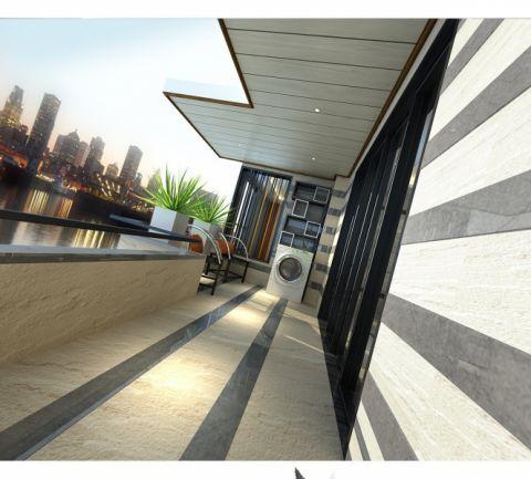阳台混搭风格装饰设计图片