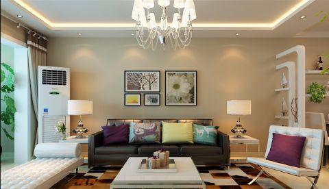 客厅现代简约风格装潢效果图