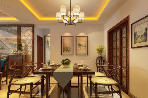 餐厅新中式风格装潢图片