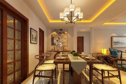 餐厅新中式风格装修设计图片