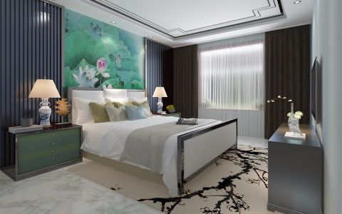 卧室新中式风格装修设计图片