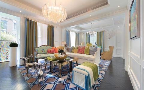 客厅窗帘地中海风格装修图片