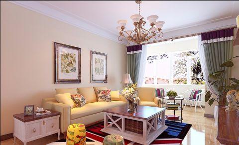 客厅田园风格装饰设计图片